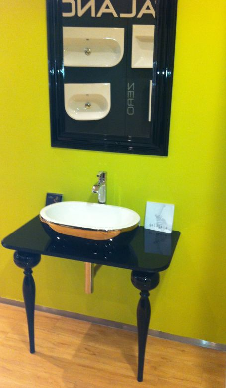 Ex Display Midas Platinum bowl, stand and bottle trap and Azeta Basin mixer and mirror